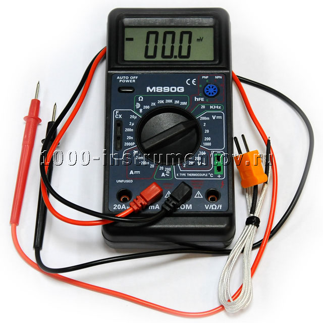 Digital multimeter m890g инструкция