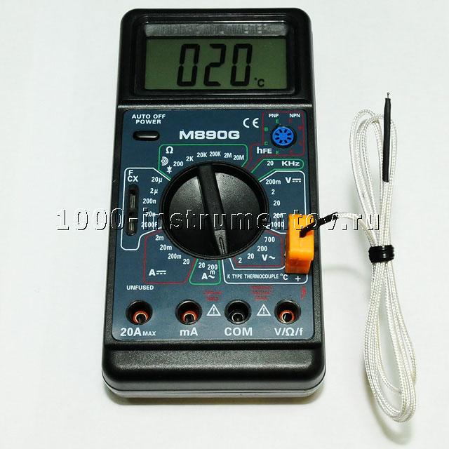 Мультиметр в режиме измерения температуры