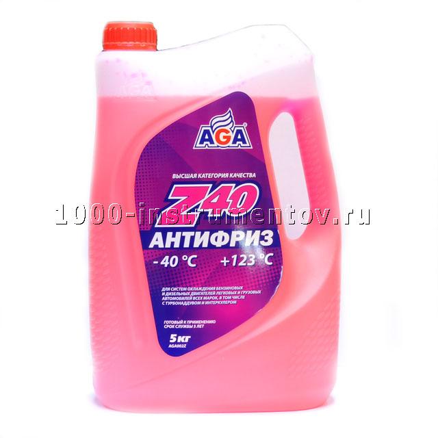 Антифриз AGA красный готовый -40 (5л) Z40