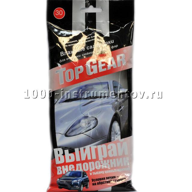 Салфетки для стёкол,фар и зеркал (16шт) Top Gear