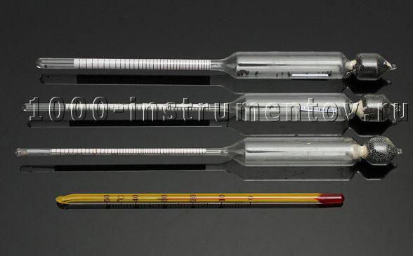 Набор ареометров спиртомеров АСП с термометром