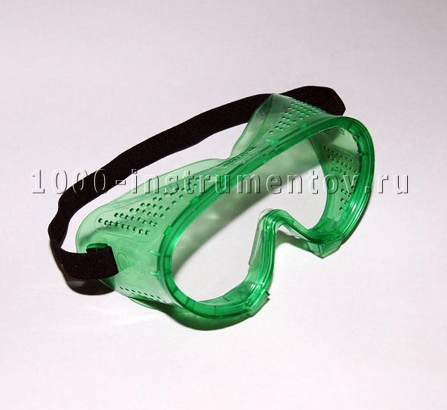 Очки защитные закрытого типа с прямой вентиляцией